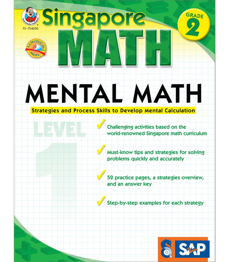 Mental Math Workbook Grade 2