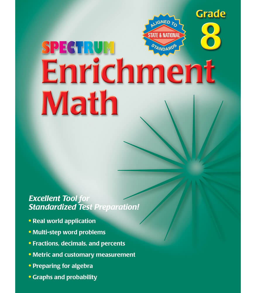 Enrichment Math Workbook Product Image