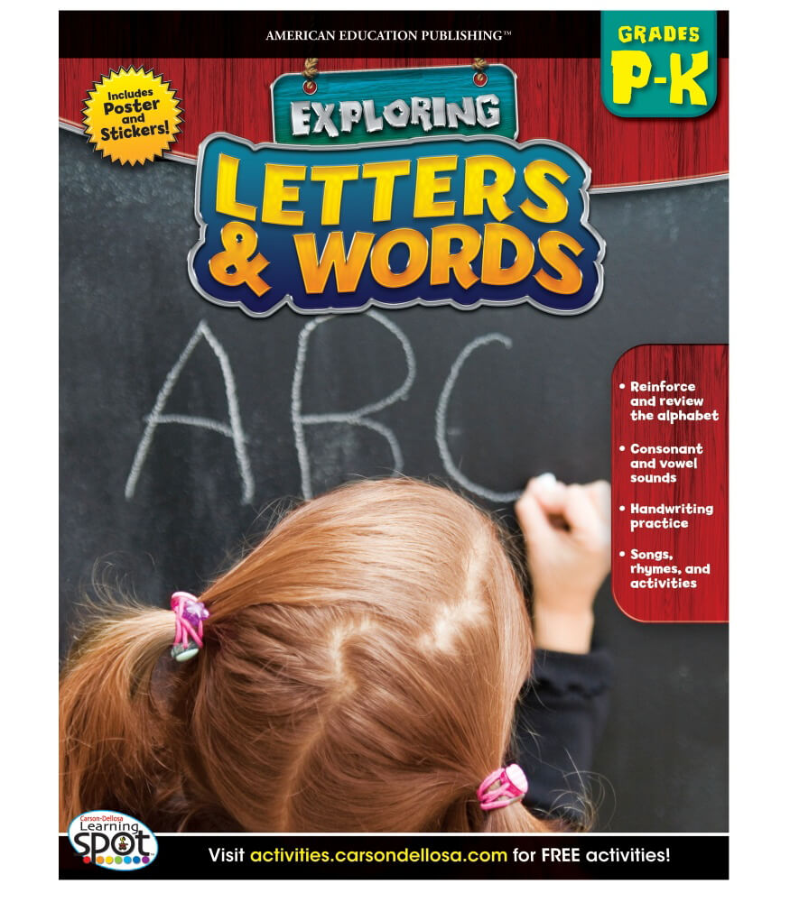 Letters & Words Workbook Product Image