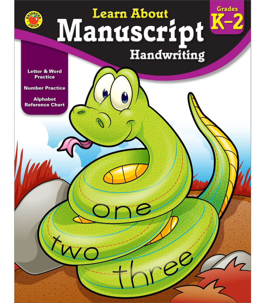 Manuscript Handwriting Workbook Product Image