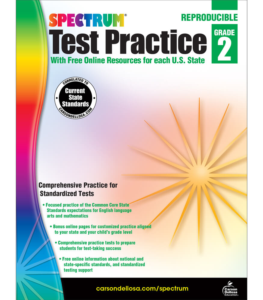 Workbooks practice workbook : Spectrum Test Practice Workbook Grade 2 | Carson-Dellosa Publishing