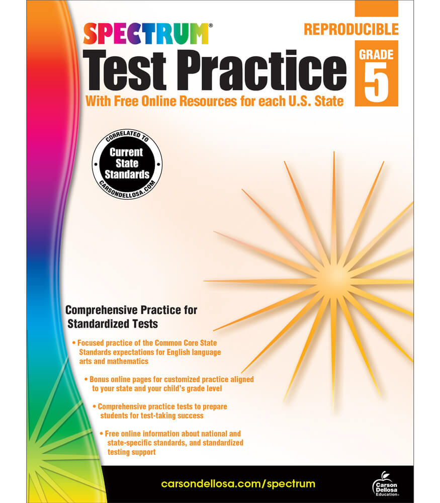 Spectrum Test Practice Workbook