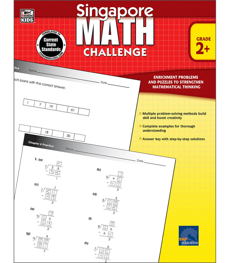 Singapore Math Challenge Workbook Product Image
