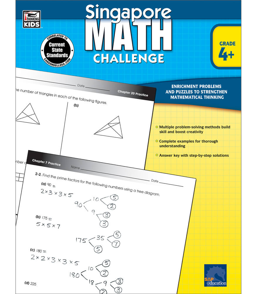 Singapore Math Challenge Workbook Product Image