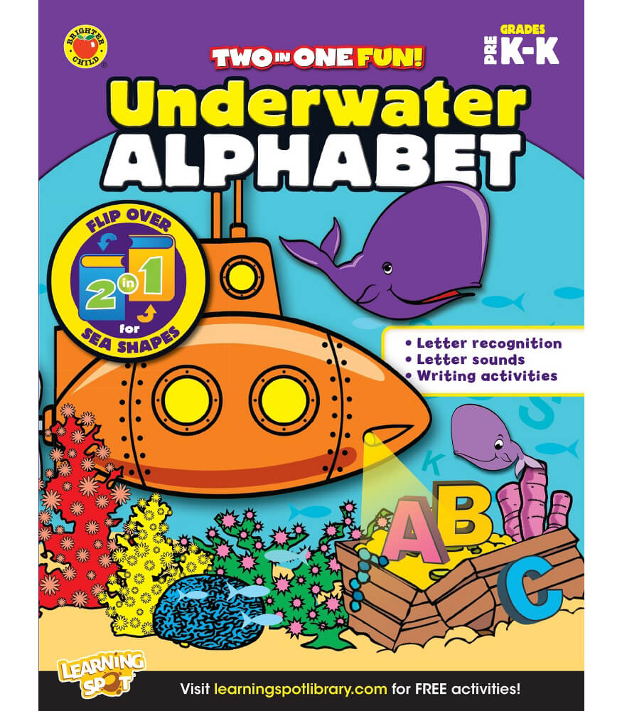 Underwater Alphabet & Sea Shapes Activity Book