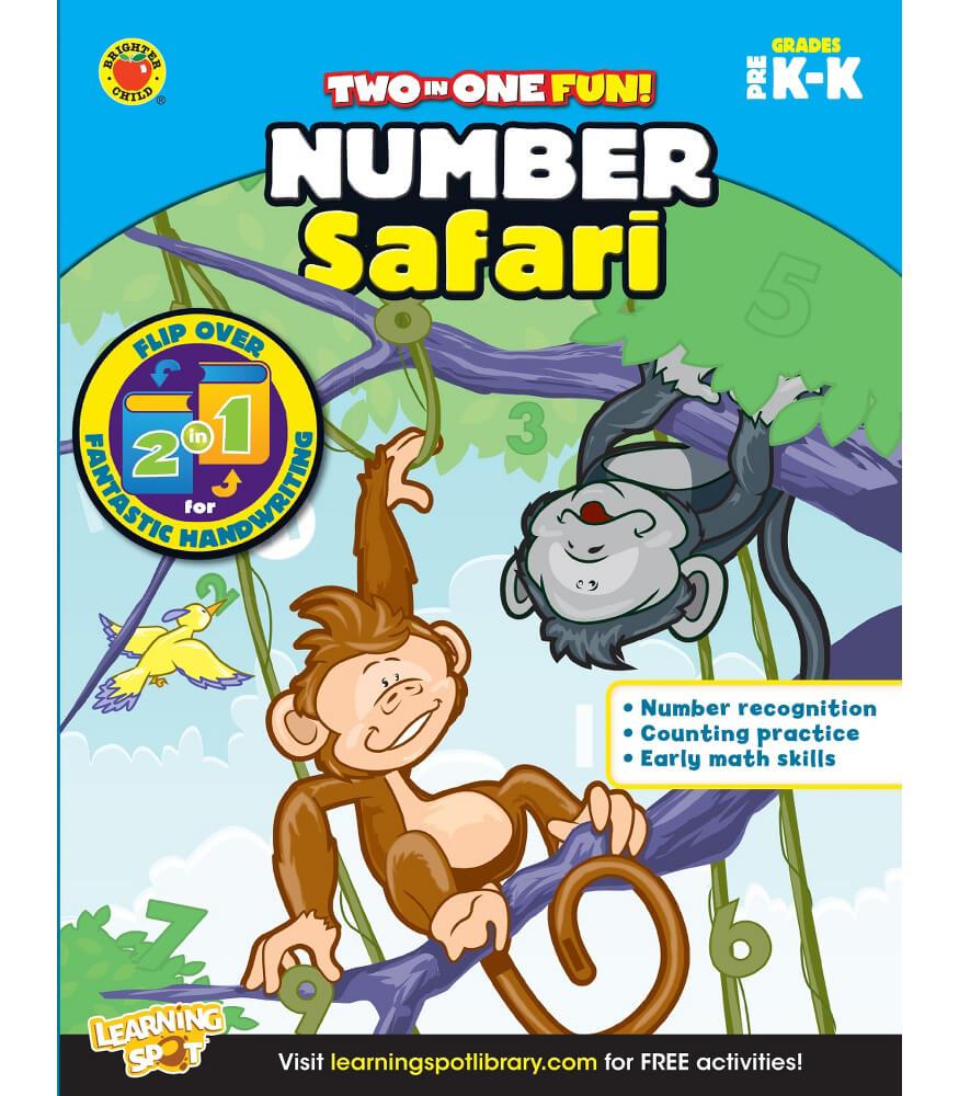 Number Safari & Fantastic Handwriting Activity Book Grade PK-K ...