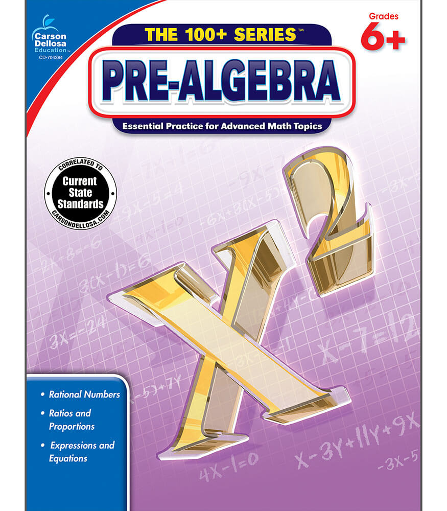 Pre-Algebra Workbook Product Image