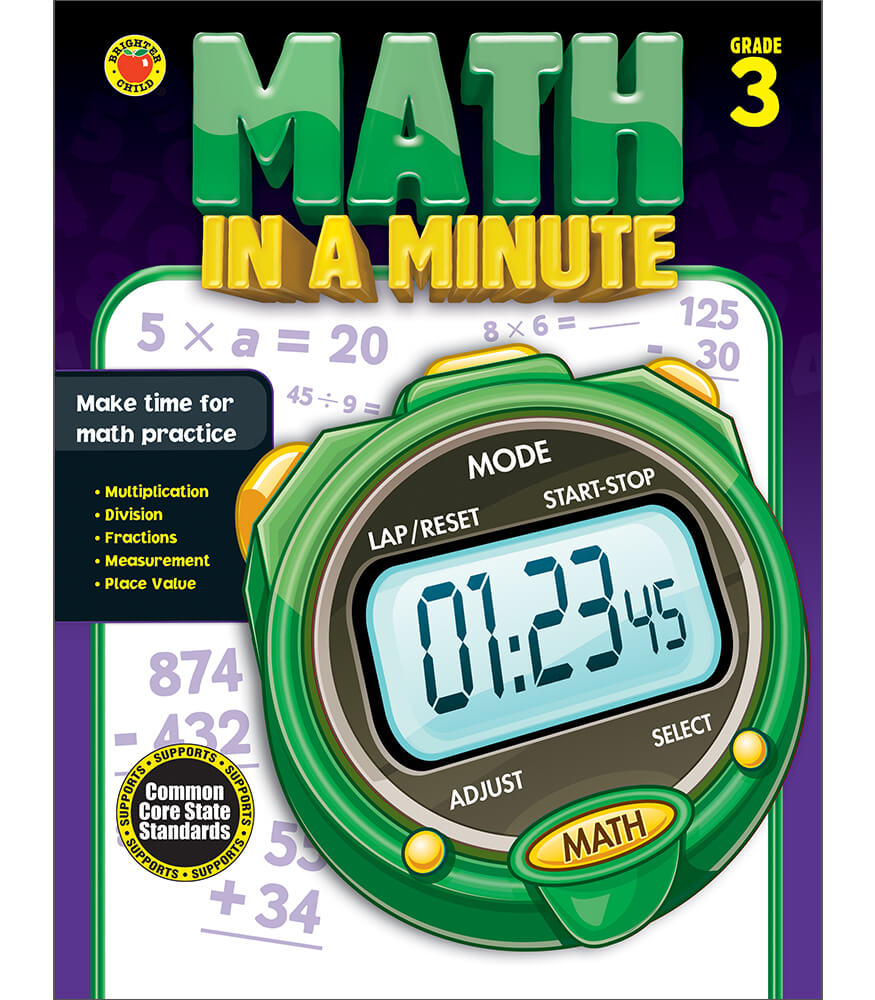 Math in a Minute Workbook Product Image