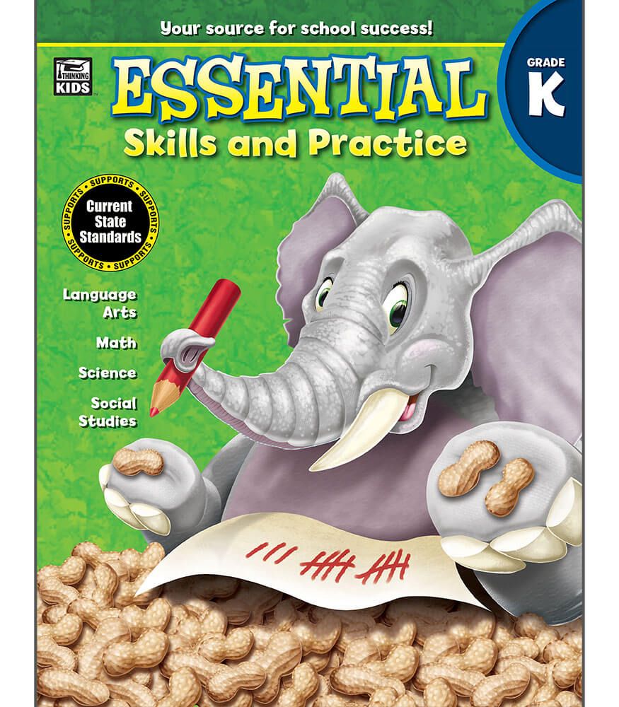 Essential Skills and Practice Workbook Grade K