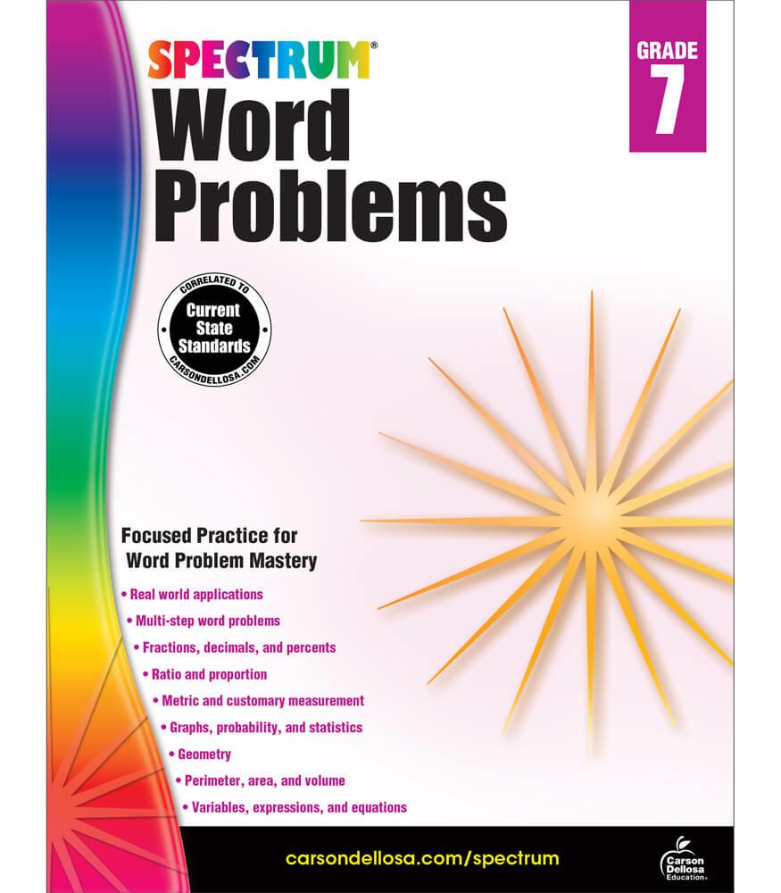 Spectrum Word Problems Workbook Product Image
