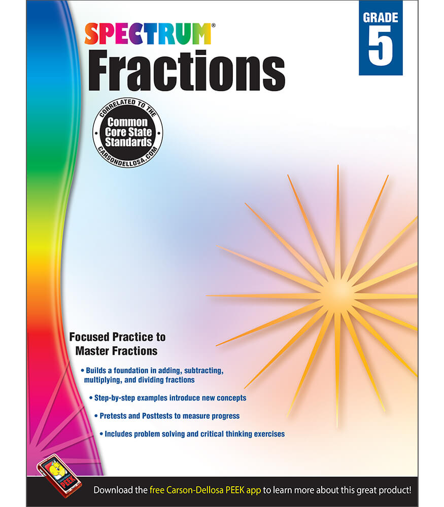Spectrum Fractions Workbook Product Image