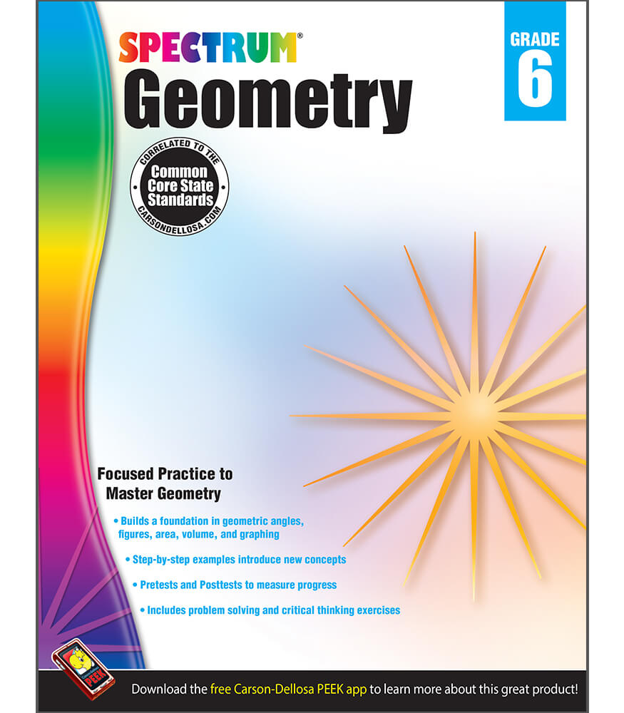 Spectrum Geometry Workbook Grade 6 | Carson-Dellosa Publishing