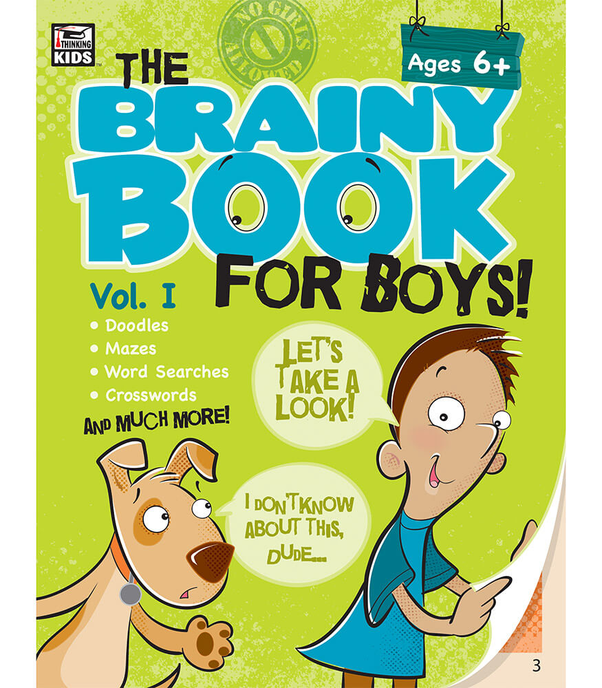 Brainy Book for Boys, Volume 1 Activity Book Product Image