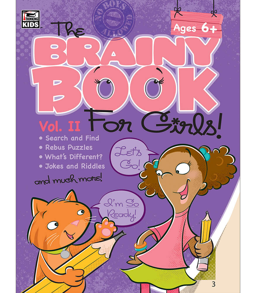 Brainy Book for Girls, Volume 2 Activity Book Product Image
