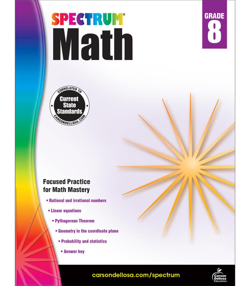 Spectrum Math Workbook Product Image