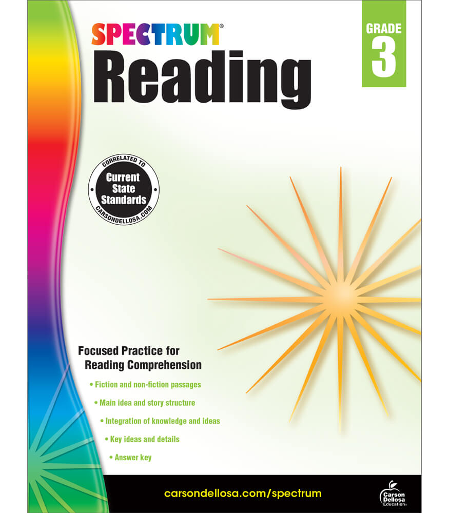 Spectrum Reading Workbook Grade 3 | Carson-Dellosa Publishing