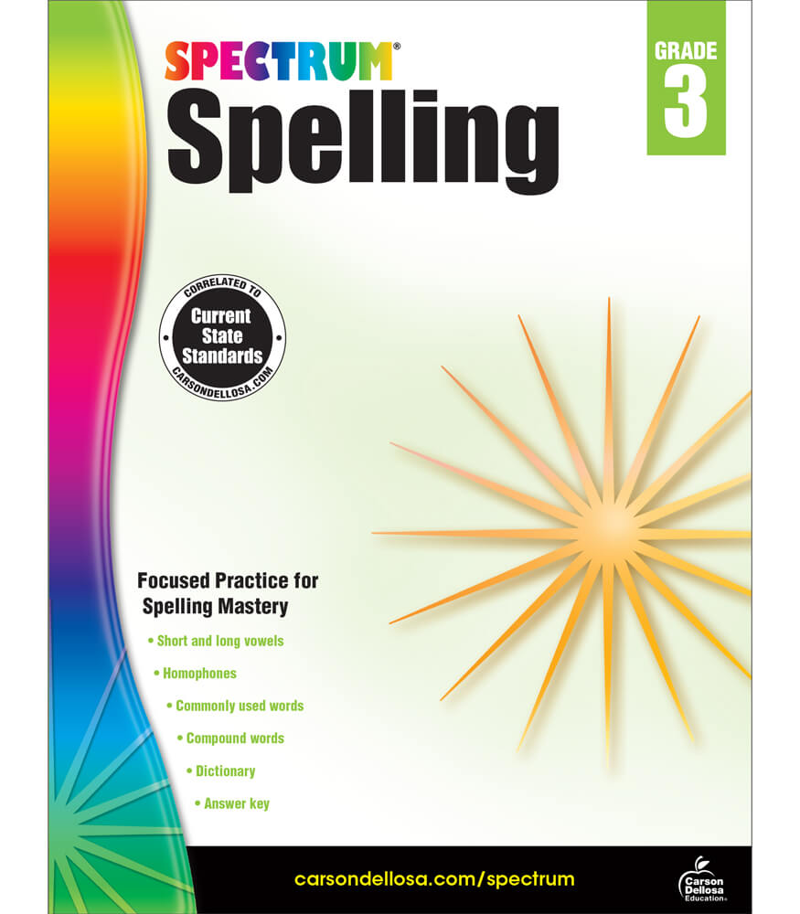 Spectrum Spelling Workbook Product Image