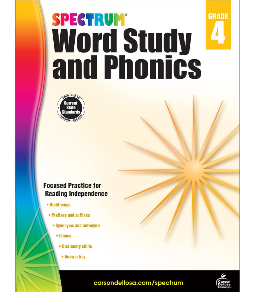 Spectrum Word Study and Phonics Workbook Product Image