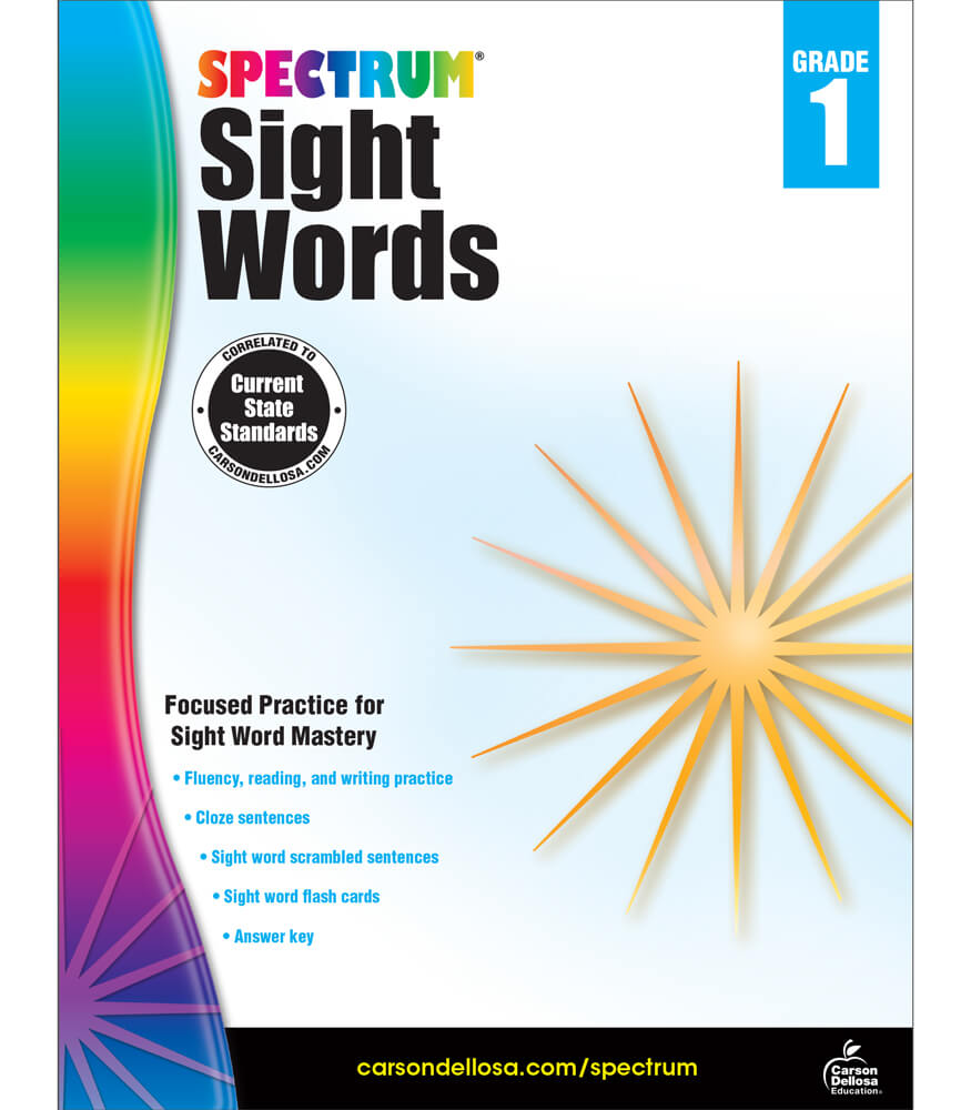 Spectrum Sight Words Workbook Product Image