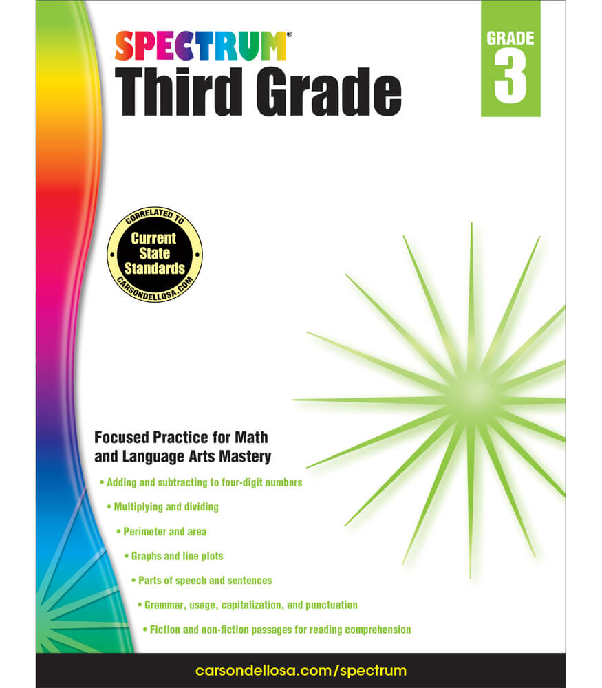 Spectrum Third Grade Workbook Grade 3