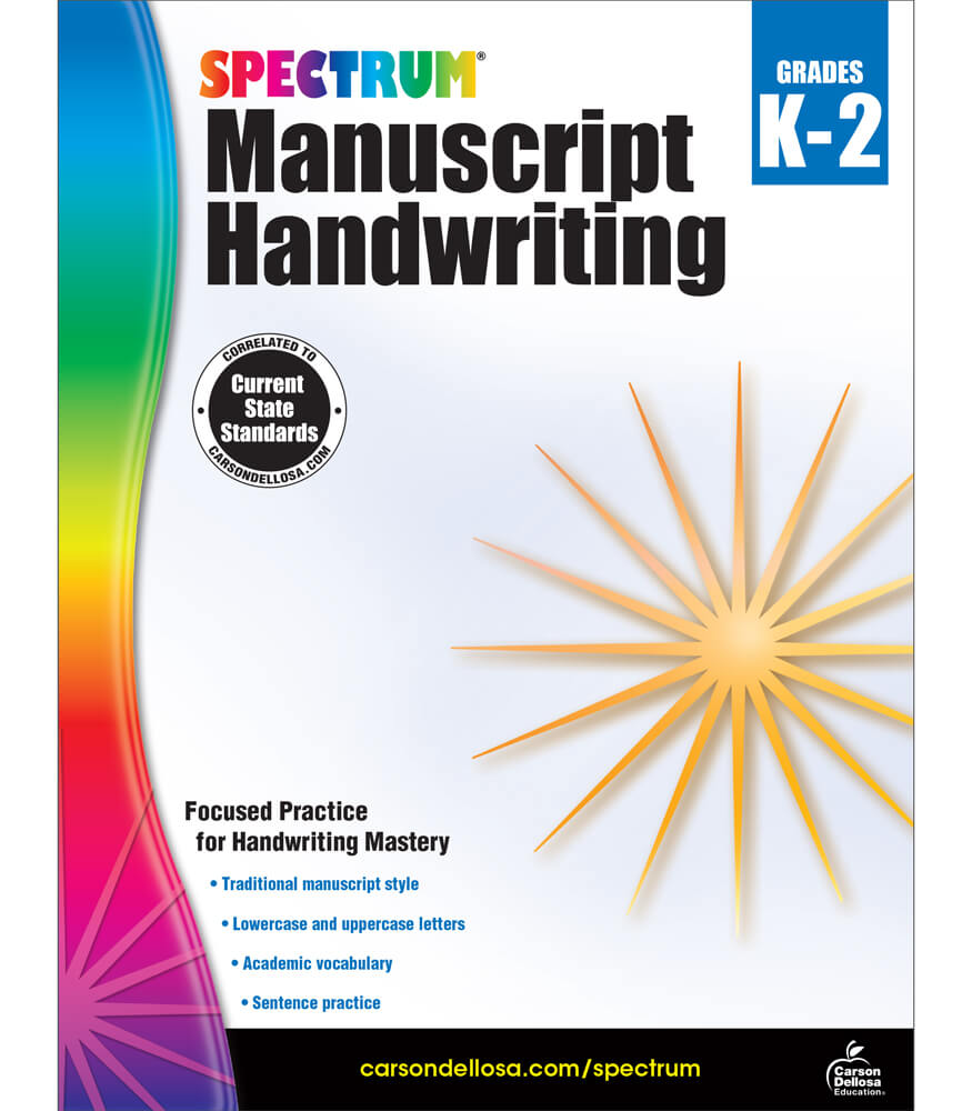 Spectrum Manuscript Handwriting Workbook Product Image