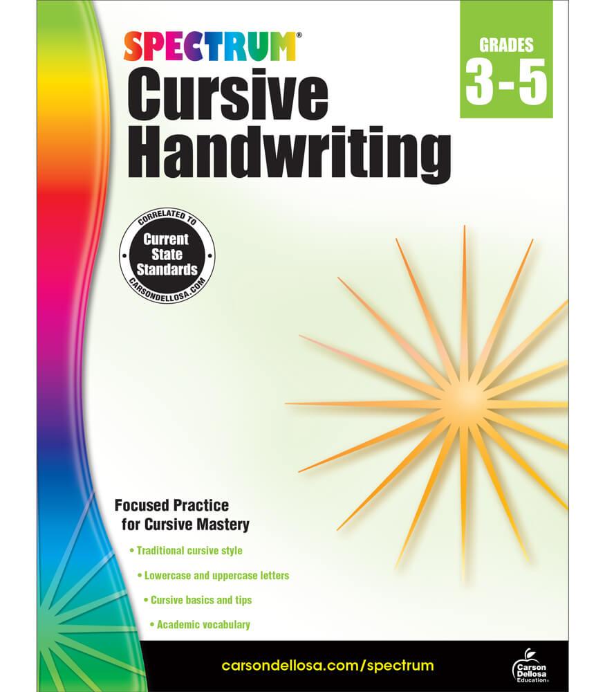 Spectrum Cursive Handwriting Workbook Product Image