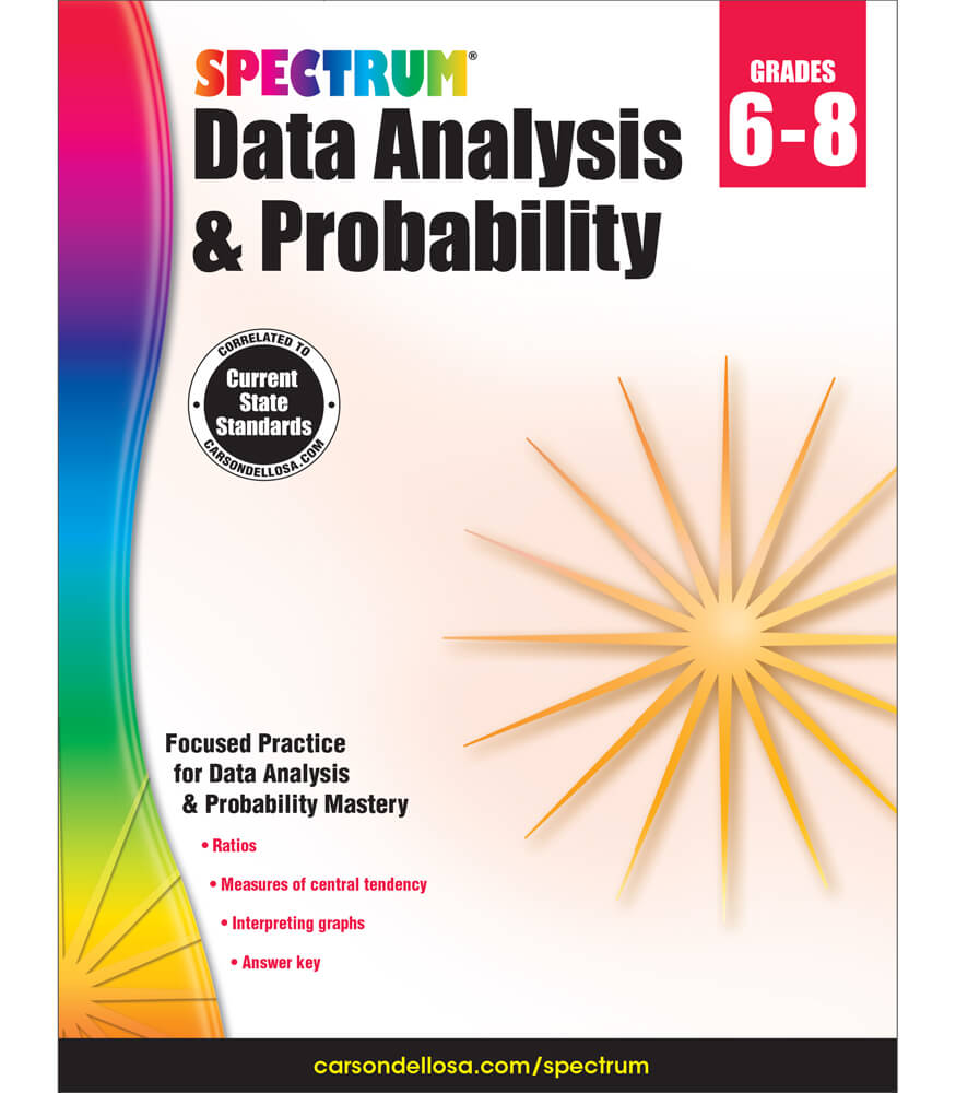 Spectrum Data Analysis and Probability Workbook Product Image