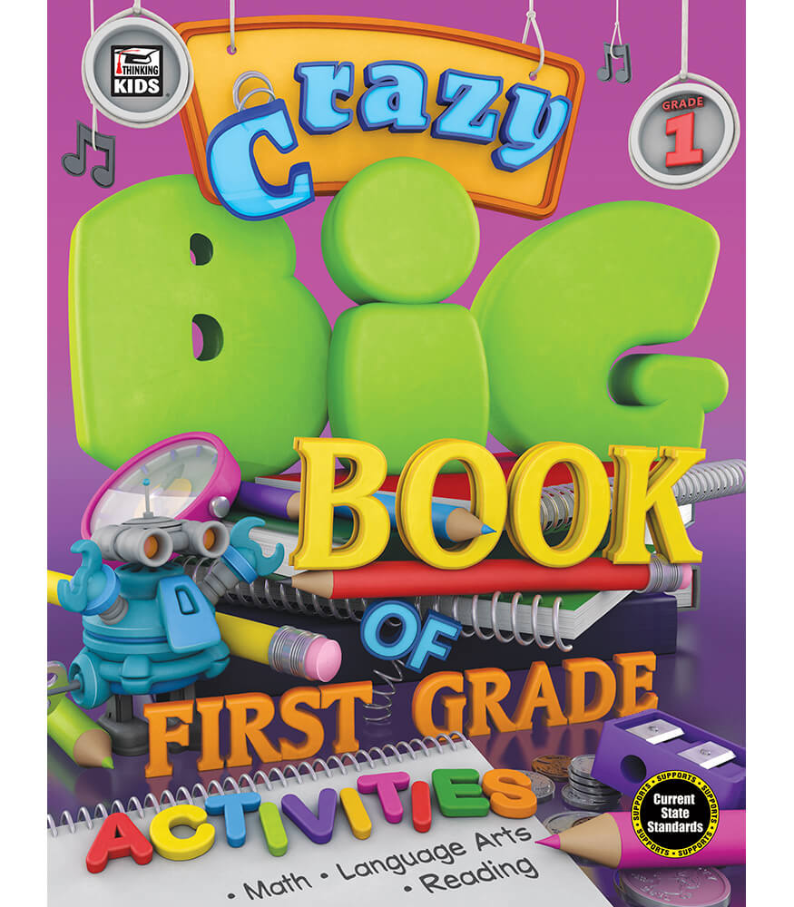 Crazy Big Book of First Grade Activities Activity Book Product Image