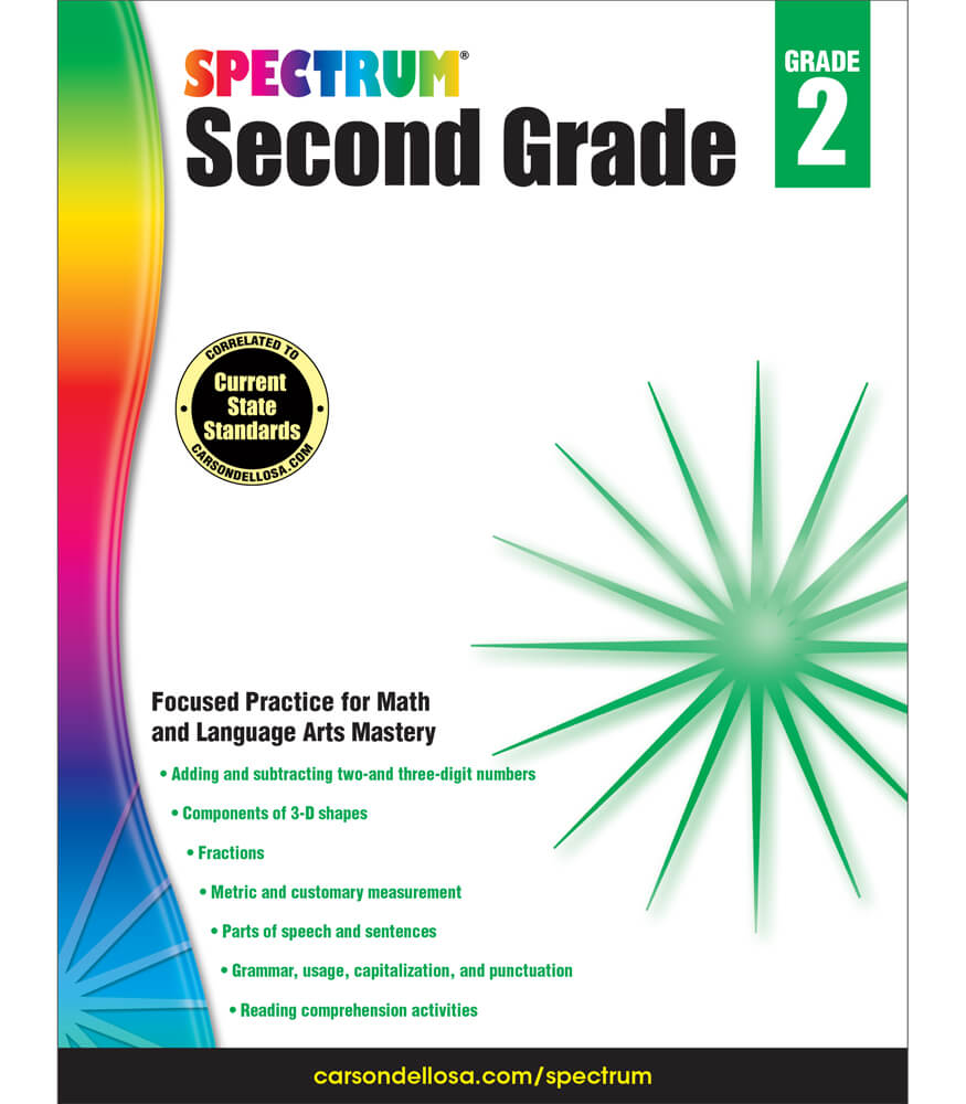 Spectrum Second Grade Workbook Product Image
