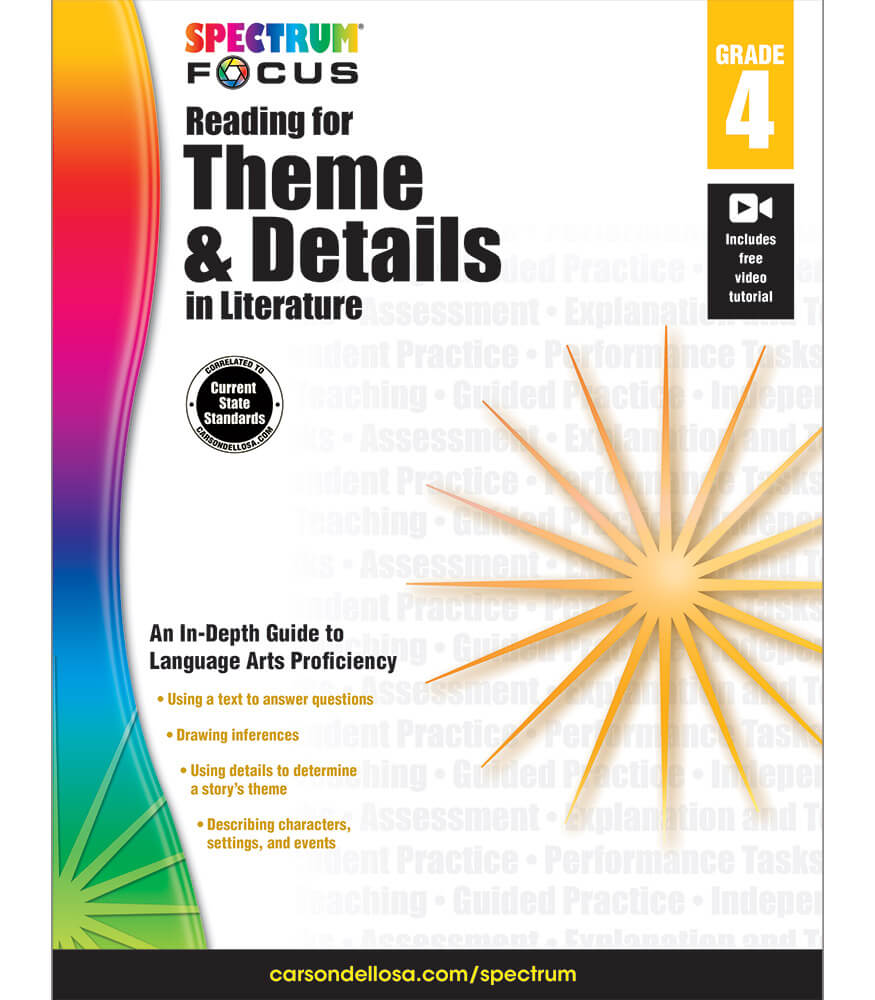 Spectrum Focus: Reading for Theme and Details in Literature Workbook Product Image