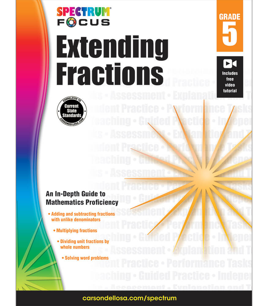 Spectrum Focus: Extending Fractions Workbook Product Image