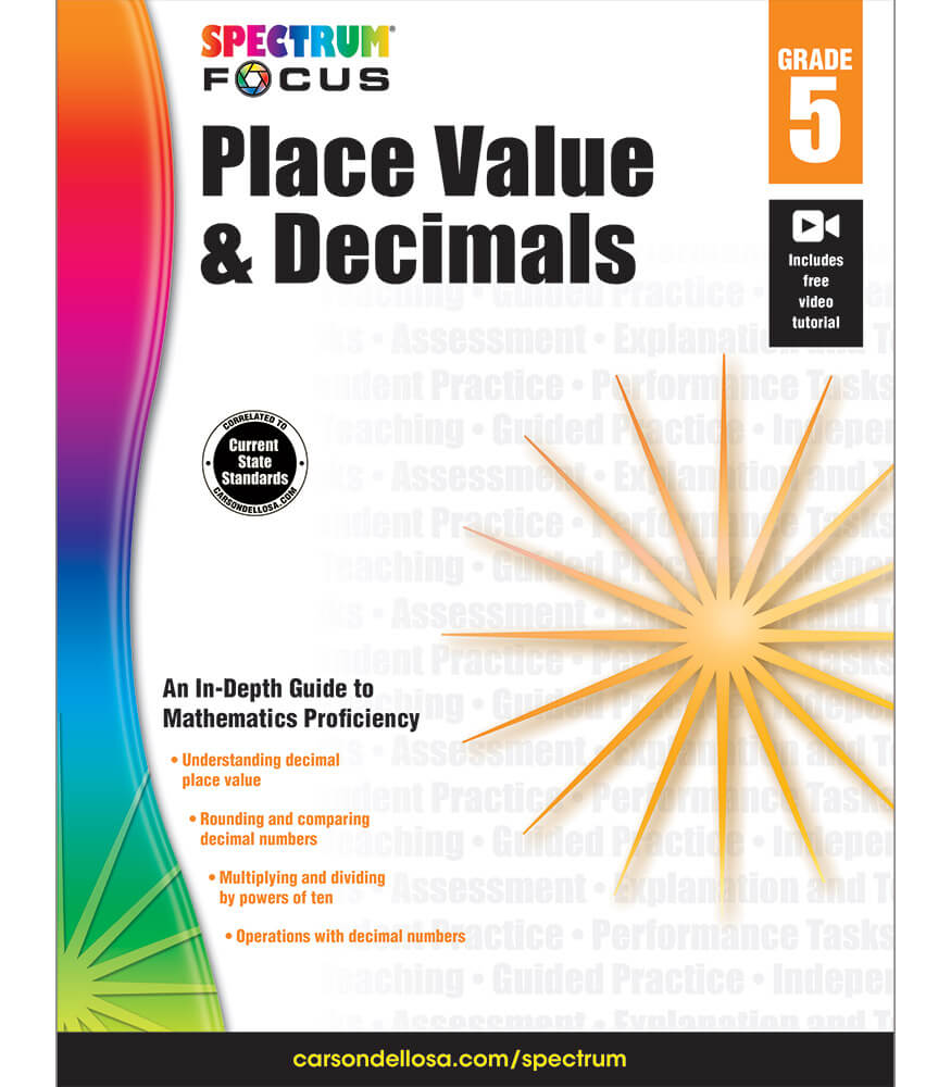 Spectrum Focus: Place Value and Decimals Workbook Product Image