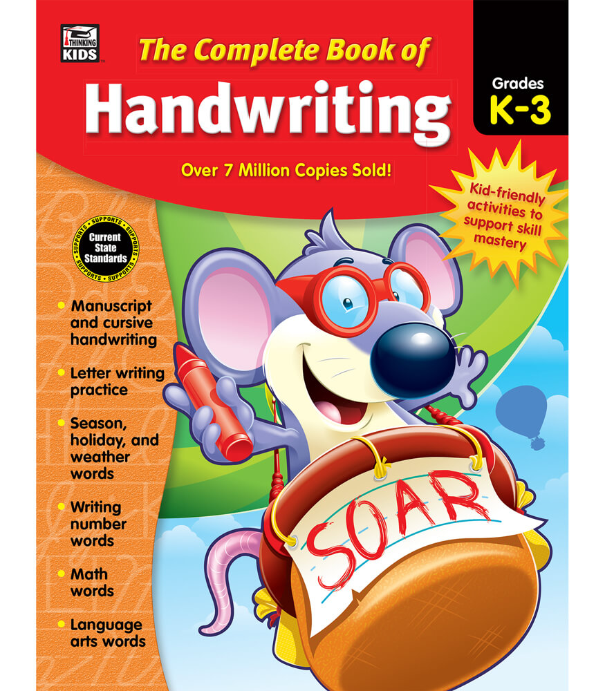 The Complete Book of Handwriting Workbook Grade K-3 | Carson ...