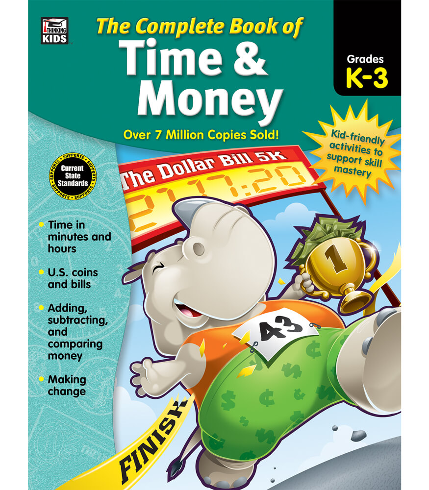 Workbooks money workbook : The Complete Book of Time & Money Workbook Grade K-3 | Carson ...