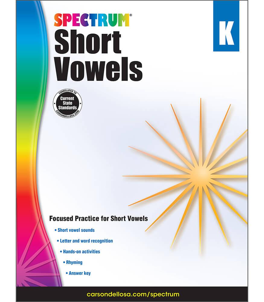 Spectrum Short Vowels Workbook Product Image
