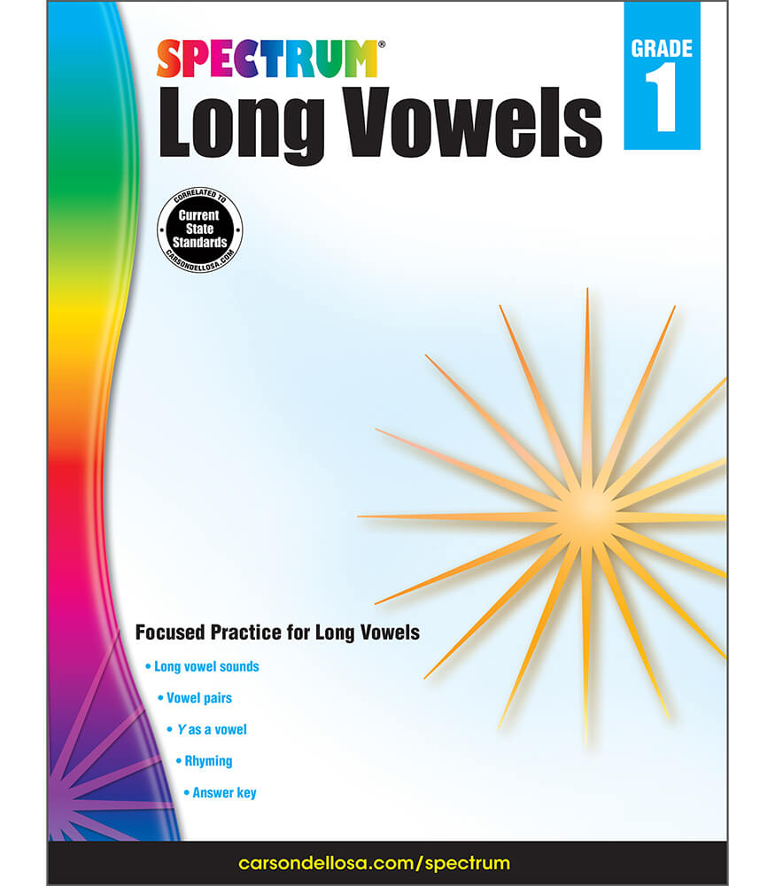Spectrum Long Vowels Workbook Product Image