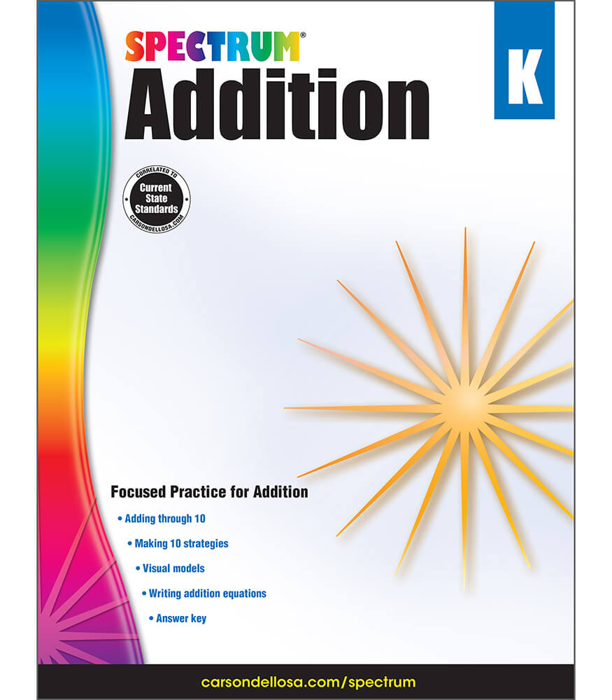 Spectrum Addition Workbook Grade K | Carson-Dellosa Publishing