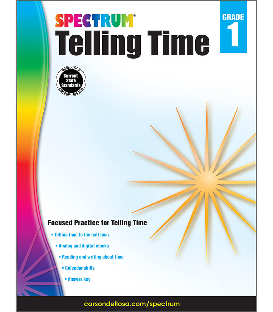 Spectrum Telling Time Workbook Product Image