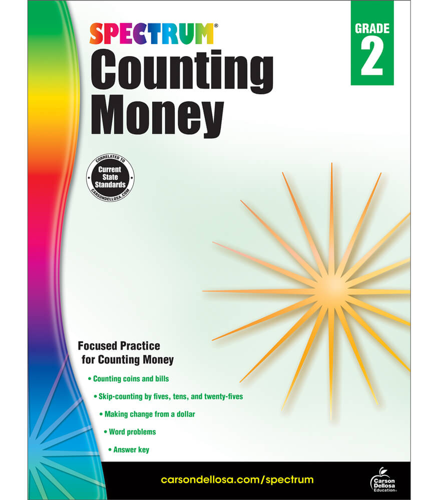 Spectrum Counting Money Workbook Product Image