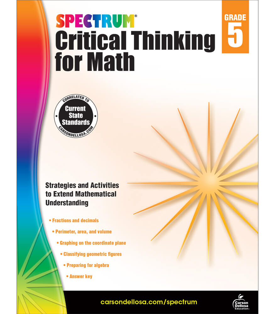 Spectrum Critical Thinking for Math Workbook Product Image