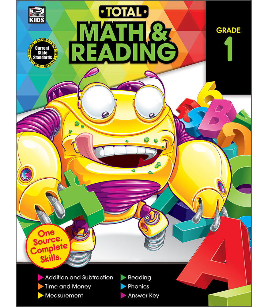 Total Math and Reading Workbook Grade 1