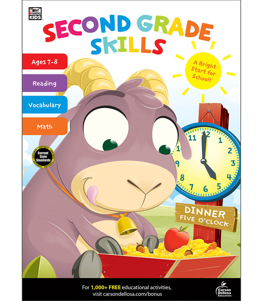 Second Grade Skills Workbook Product Image