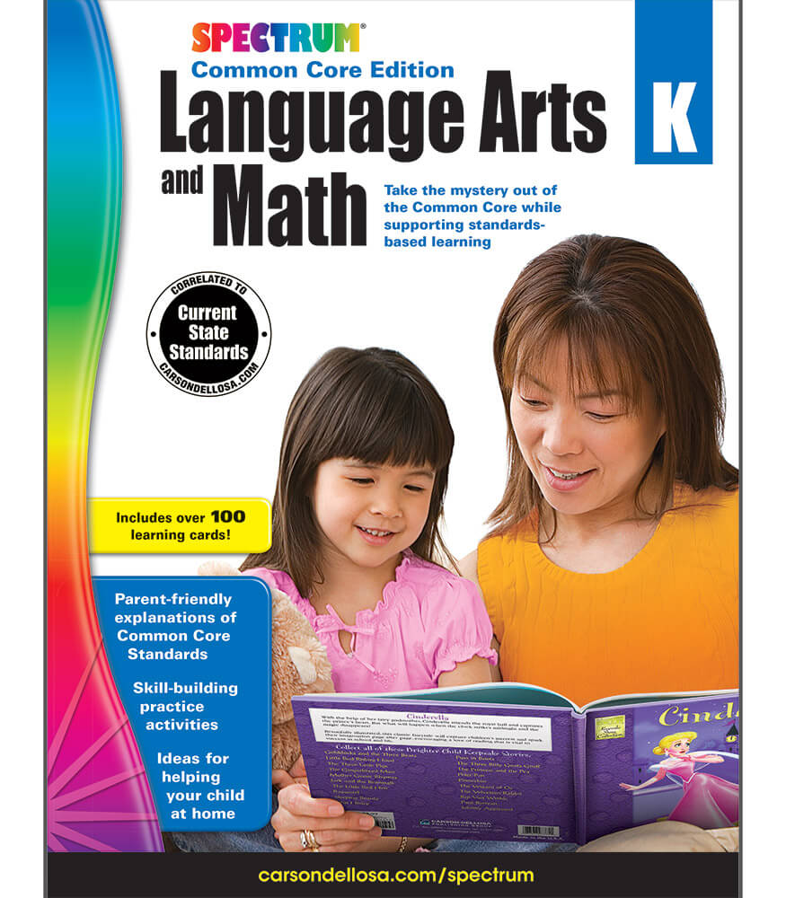 Workbooks kindergarten common core workbook : Spectrum Language Arts and Math Workbook Grade K | Carson-Dellosa ...