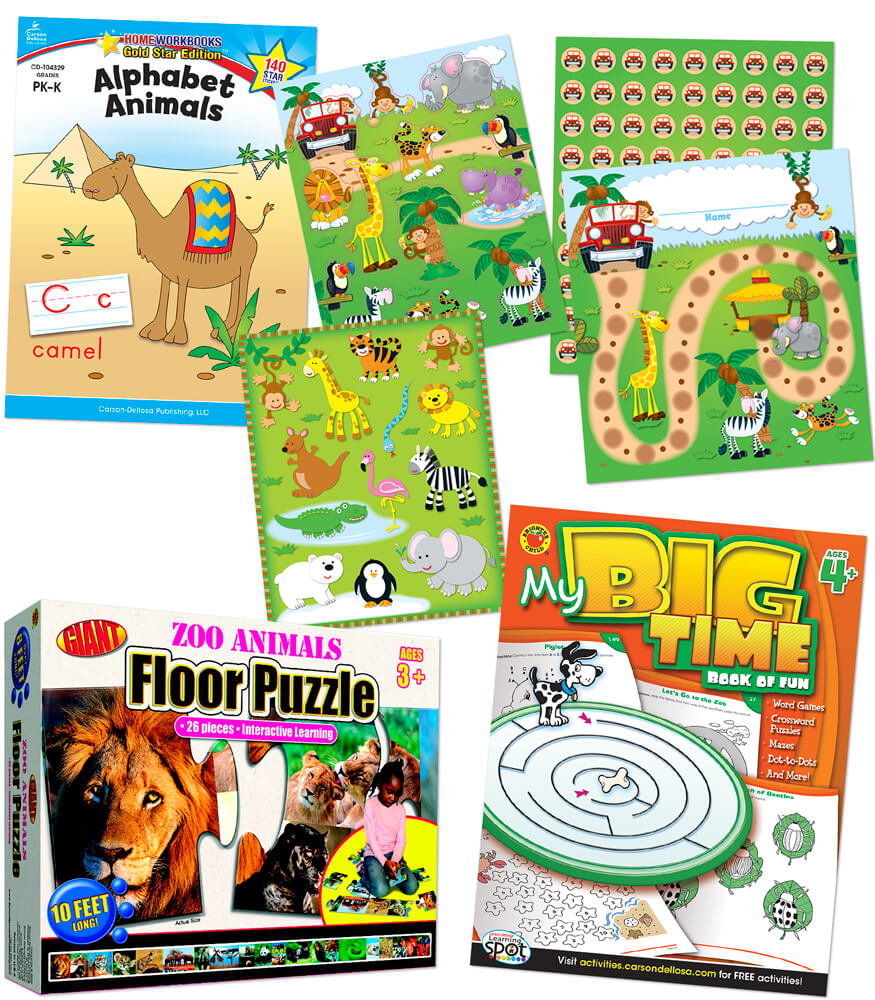 Super-Fun Grandparents' Zoo-Themed Boredom Busters Supplemental Activity Pack Product Image
