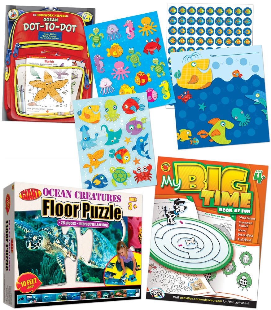 Super-Fun Grandparents' Ocean-Themed Boredom Busters Supplemental Activity Pack