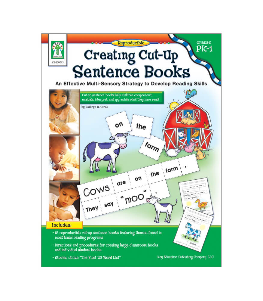 Creating Cut-Up Sentence Books Resource Book Product Image