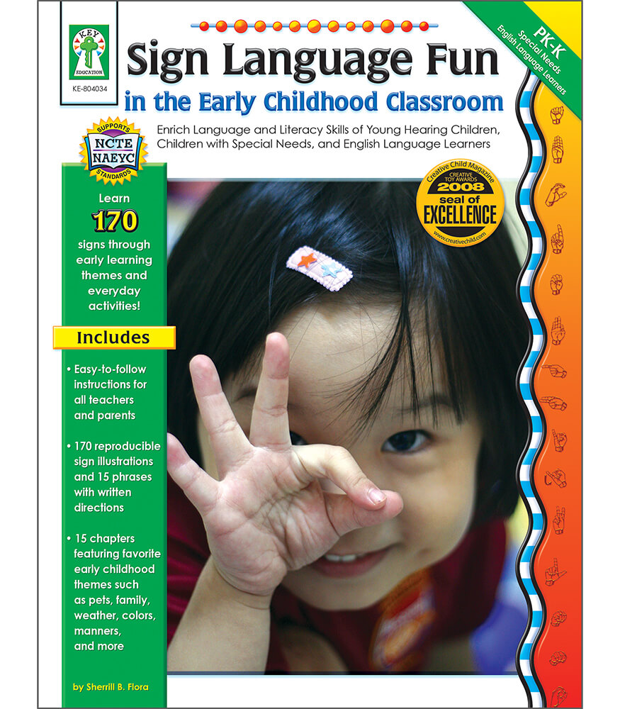 Sign Language Fun in the Early Childhood Classroom Resource Book Product Image