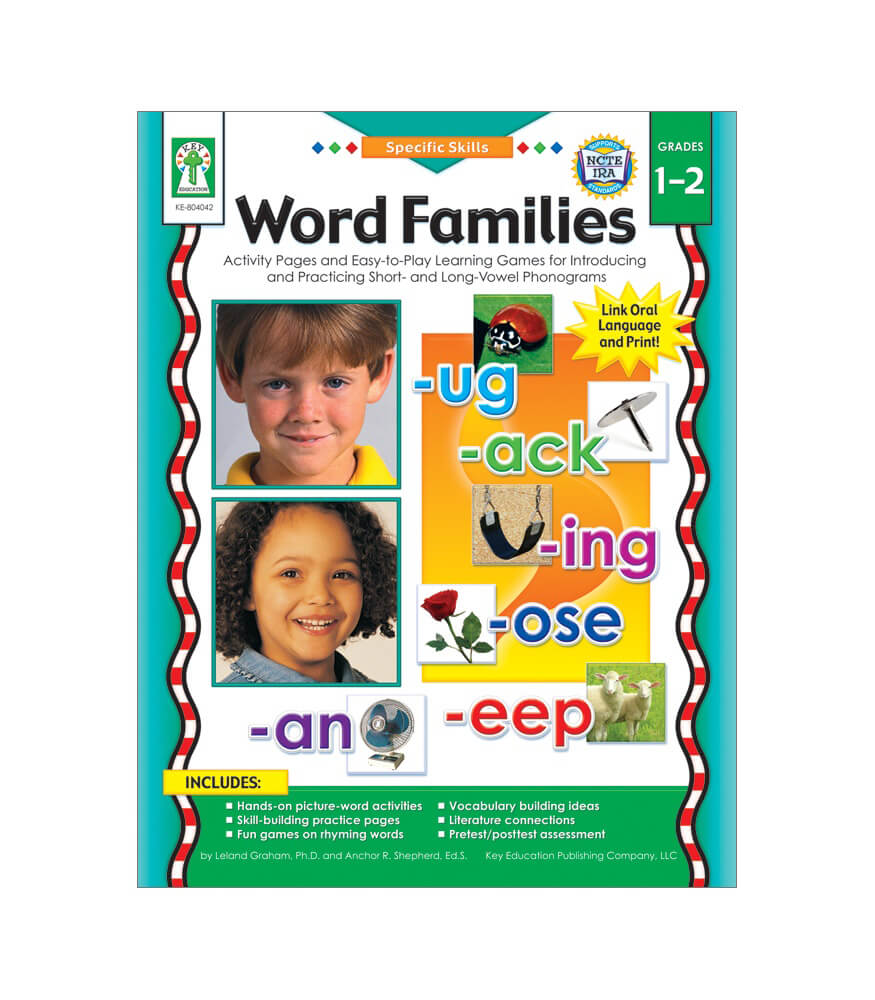 Word Families Resource Book Product Image