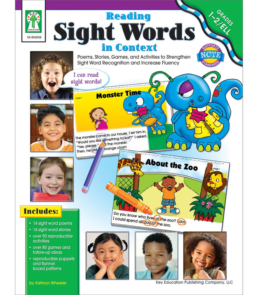 Reading Sight Words in Context Resource Book Product Image