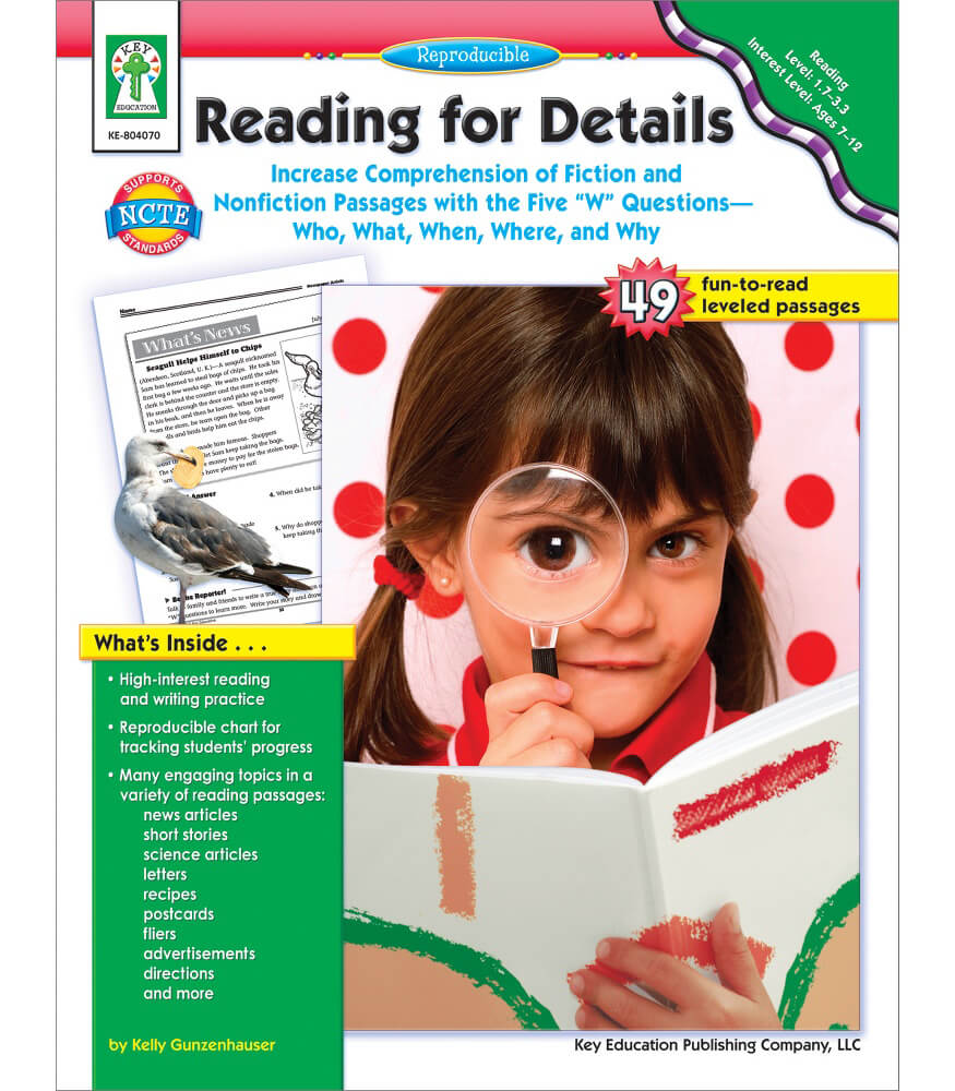 Reading for Details Resource Book Product Image